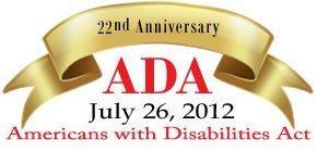 2012 ADA 22nd Anniversary Logo