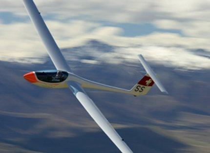 A glider in the air
